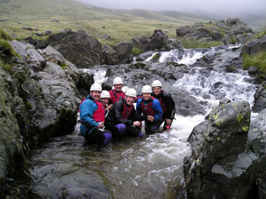 Ghyll Scrambling Course Team Photo